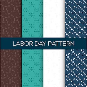 De gelukkige Dag van de Arbeid achtergrond van het patroon set