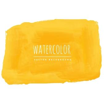 De hand beschilderd gele achtergrond van de waterverftextuur