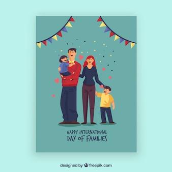 De kaart van Nice met vereende familie