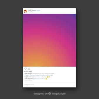 Decoratief instagram frame