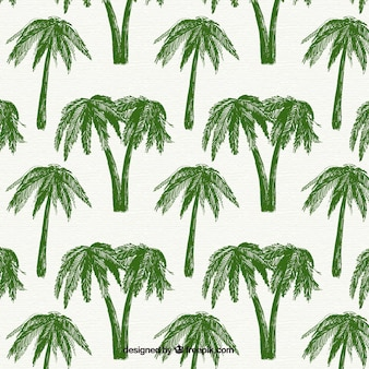 Decoratief patroon met groene palmbomen