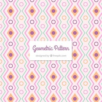 Decoratief patroon van diamanten en lijnen