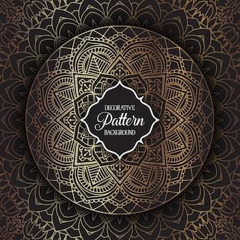 Decoratieve achtergrond met een elegant mandala ontwerp