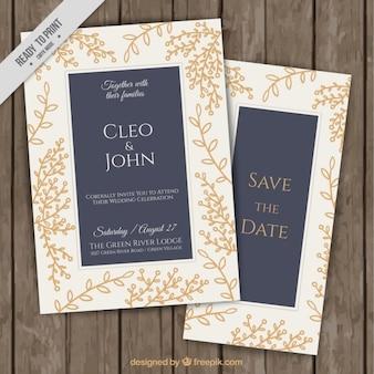 Decoratieve bloemenhuwelijksuitnodigingen
