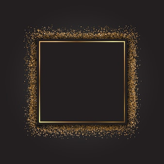 Decoratieve frame met een gouden glittereffect