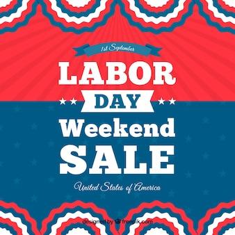 Decoratieve retro-Amerikaanse achtergrond van arbeidsdag verkoop