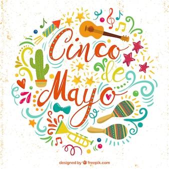 Decoratieve sier achtergrond van Mexico fiesta