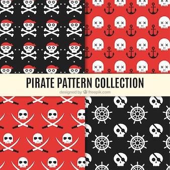 Decoratieve verzameling van piraat patroon