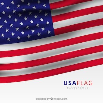 Decoratieve vlag verenigde staten in realistische ontwerp