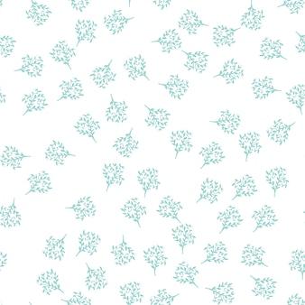 Delicat Blue Floral Pattern