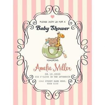 Delicate baby girl douche-kaart