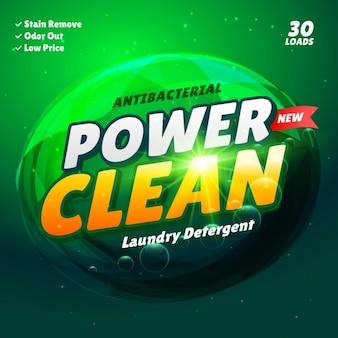 Detergent verpakking van een product template