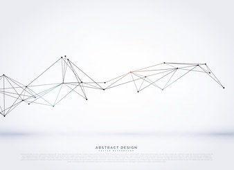 Digitale vector mesh achtergrond met poly lijnen