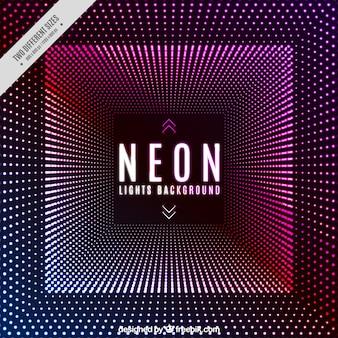 Disco achtergrond met neonlichten