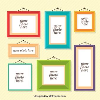 Diverse foto frames in plat design