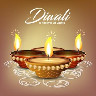 Diwali achtergrond ontwerp