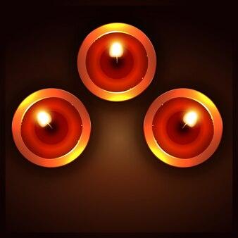 Diwali diya van bovenaanzicht illustratie