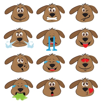 Dog emojis Set