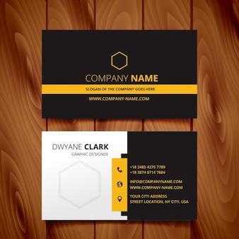 Donker adreskaartje modern ontwerp
