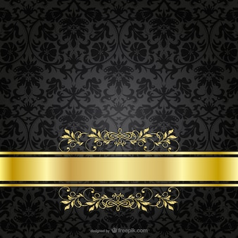 Donkere luxe gouden sjabloon