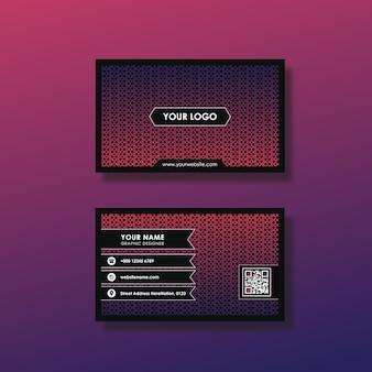 Donkere roze visitekaartje ontwerp