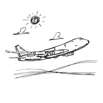 Doodle vliegtuig