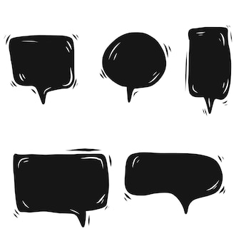Doodle zwarte speech bubble vector