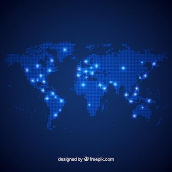 Dot ontwerp van de wereldkaart
