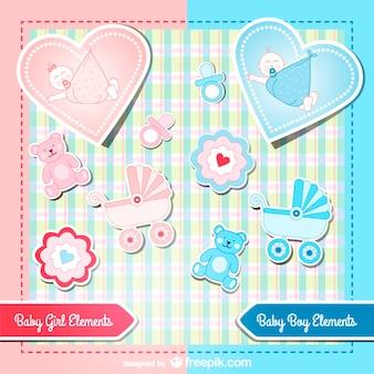 dragen cartoon stickers vector