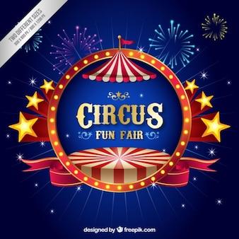 Driedimensionale circus achtergrond