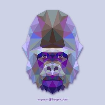 Driehoek gorillaontwerp
