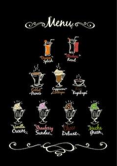 Drink menu achtergrond