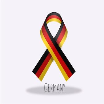Duitsland vlag lint ontwerp