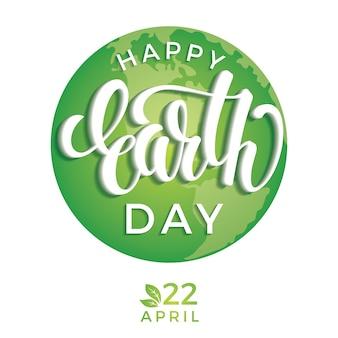 Earth Day dagconcept met planeet Aarde.