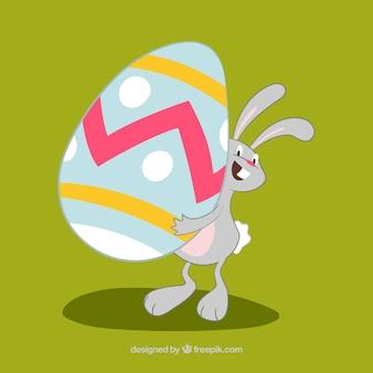 Easter Bunny Holding Egg illusttration
