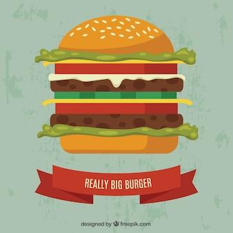 Echt grote hamburger