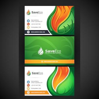 Eco visitekaartje ontwerp