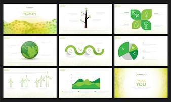 Ecologische presentatie templates set.