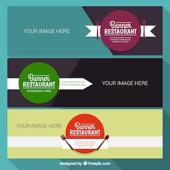 Eenvoudig restaurant banners