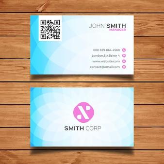 Eenvoudige blauwe visitekaartje