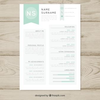 Eenvoudige CV-sjabloon