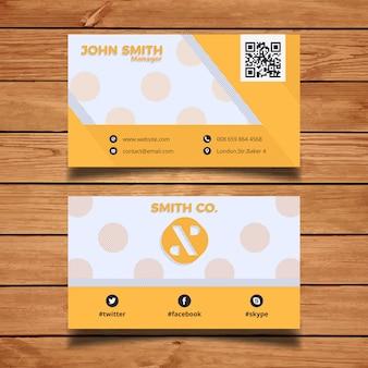 Eenvoudige gele visitekaartje