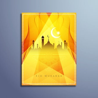 Eid mubarak elegant brochure ontwerp