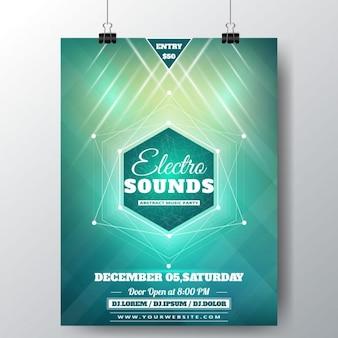 Electro klinkt poster