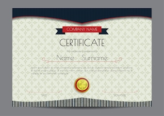 Elegant certificaat sjabloon