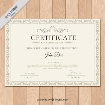 Elegant diploma in vintage stijl