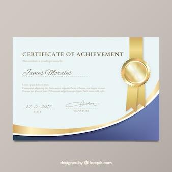 Elegant diploma sjabloon