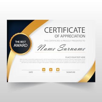 Elegant horizontaal certificaat sjabloon