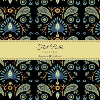 Elegant patroon retro batik
