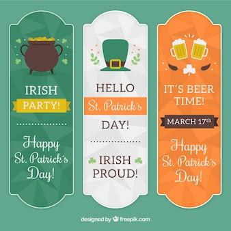 Elegant Saint Patrick banners
